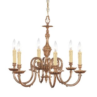 House of Hampton Aureolin 6-Light Candle-Style Chandelier