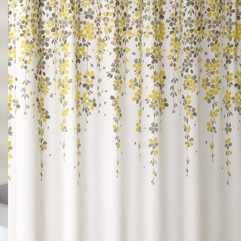 Yellow & Gold Shower Curtains You\'ll Love | Wayfair