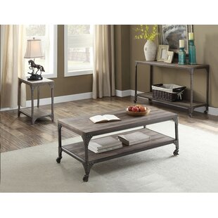 Aahil 3 Piece Coffee Table Set