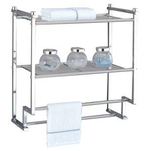 towel rack with hooks. Hedvige Wall Shelf Towel Rack With Hooks