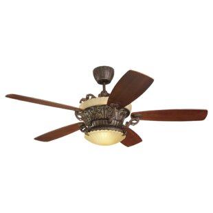 Compare 56 Beaton 5 Blade Ceiling Fan with Remote By Fleur De Lis Living
