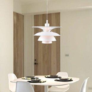 Morrell 1-Light LED Geometric Pendant by Orren Ellis