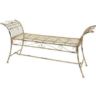 Rustic Iron Garden Bench