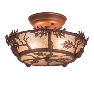 Beatriz 2-Light Semi Flush Mount by Loon Peak
