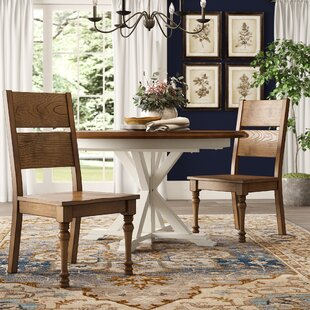Calila Solid Wood Side Chair (Set of 2) b..