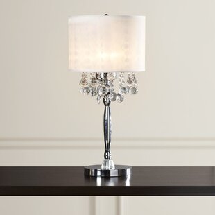 Kitson Crystal 3-Light 30 Table Lamp with Drum Shade