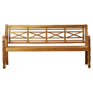 Boxwood Wooden Bench By Ophelia & Co.