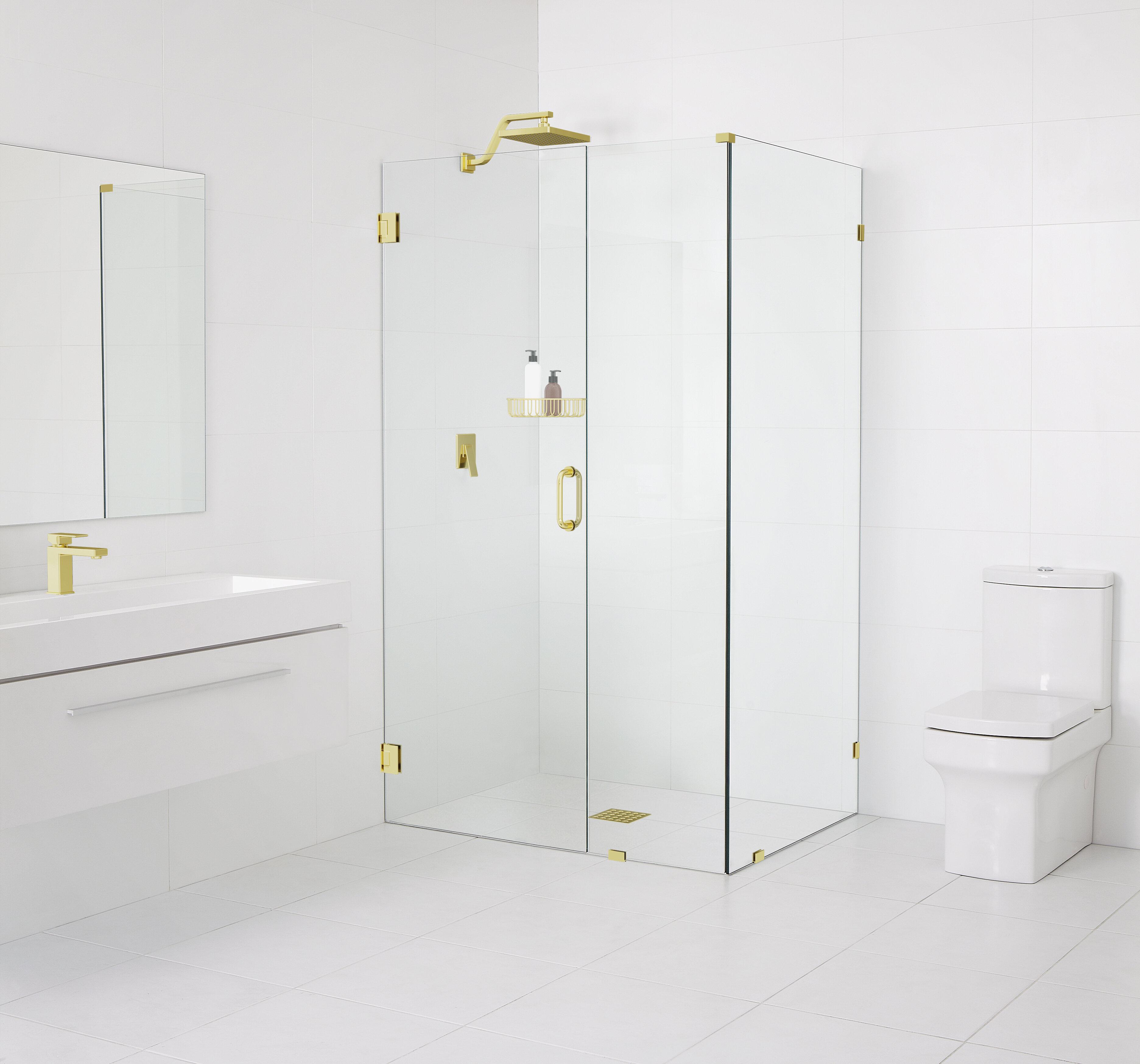 46 5 X 78 Hinged Frameless Shower Door