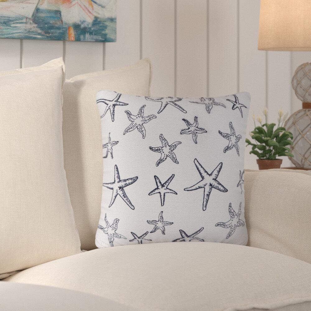 Highland Dunes Anil Cotton 18 Throw Pillow Cover Wayfair