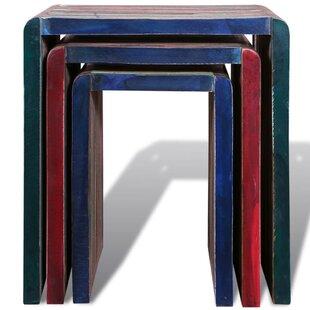 Zelda Reclaimed Teak 3 Piece Nest Of Tables By Union Rustic