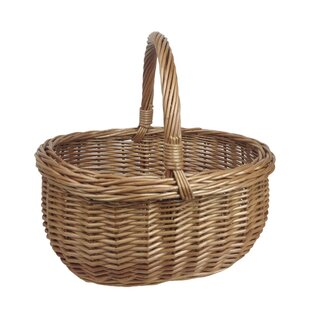 Deluxe Shopper Willow Basket By Beachcrest Home