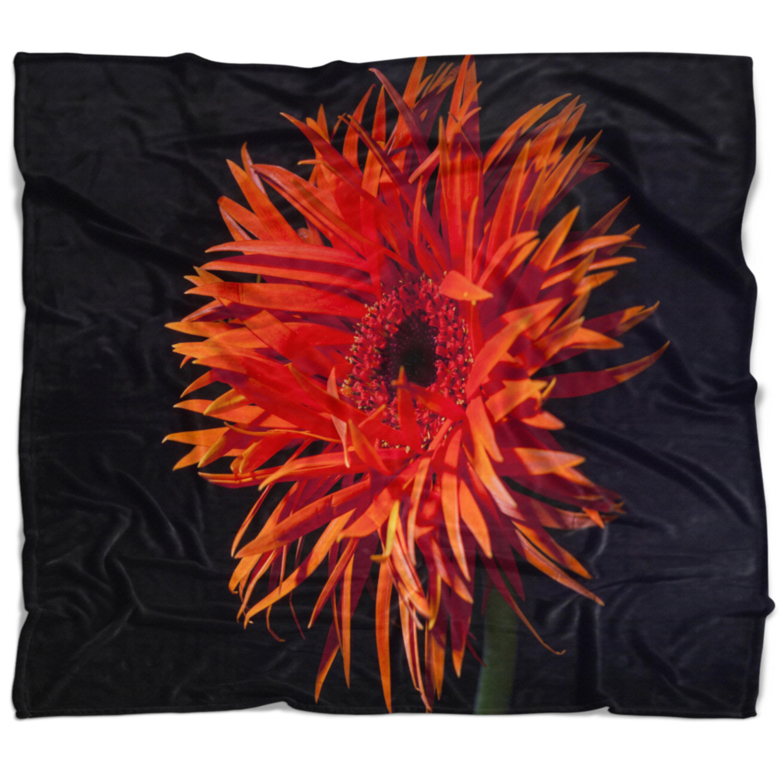East Urban Home Flowerswork Spider Gerbera Daisy Watercolor Blanket Wayfair