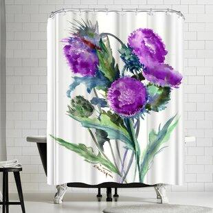 Suren Nersisyan Thistle Single Shower Curtain