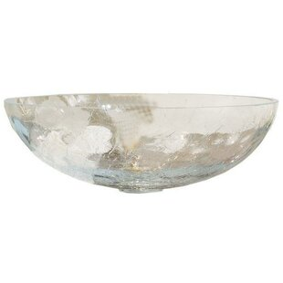 Glass Circular Vessel Bathroom Sink By AGM Home Store