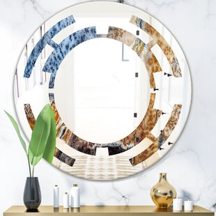 Space China Moss Agate Modern Frameless Wall Mirror by East Urban Home
