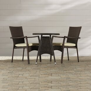 Beachcrest Home Brandon 3 Piece Dining Set
