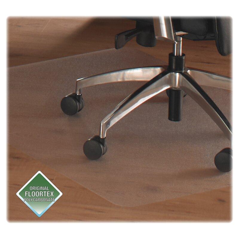 Floortex Cleartex Chair Mats For Hard Floors Straight Rectangular