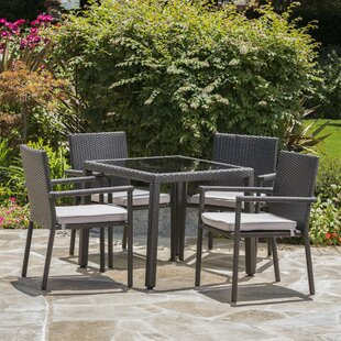 Brooklet 5 Piece Dining Set with Cushions