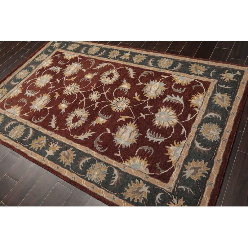 Canora Grey Forst Persian Oriental Hand Tufted Wool Mocha Area Rug Wayfair