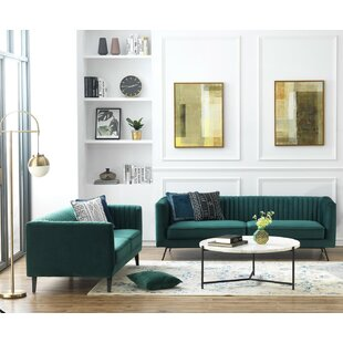 Yorkshire 2 Piece Living Room Set (Set of 2) ByEverly Quinn