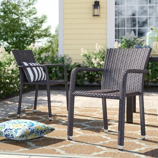 Blakely Stacking Patio Dining Chair (Set of 2)