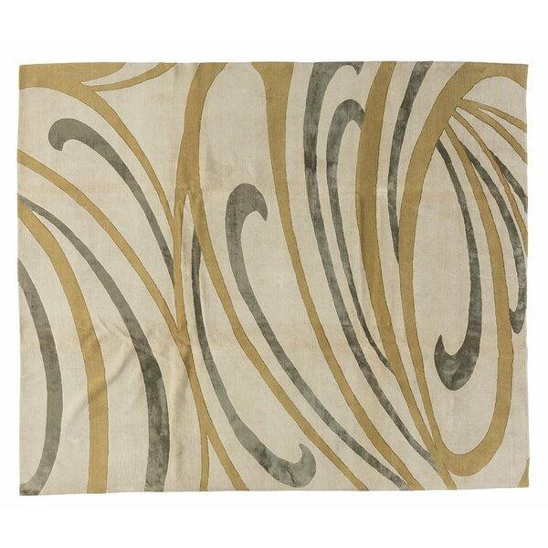 Tufenkian Curled Abstract Hand Knotted Wool Silk Beige Area Rug Wayfair