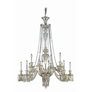 Leonardo 12-Light Candle Style Chandelier by Rosdorf Park