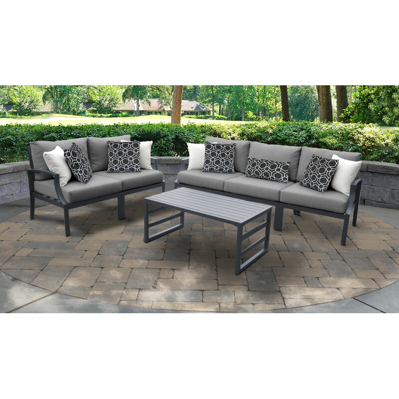 Ivy Bronx Benner Outdoor Aluminum 6 Piece Sectional Seating Group With Cushion Wayfair