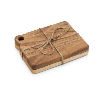 Gourmet 2-Piece Acacia Wood Cutting Board Set (Set of 2)
