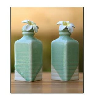 Frangipani Ceramic Cruet (Set of 2)
