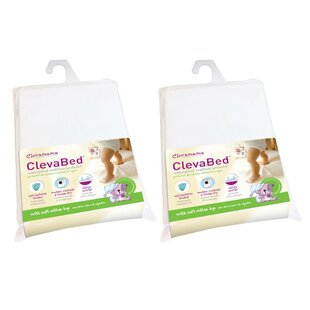 ClevaBed Brushed Cotton Waterproof Fitted Mattress Protector (Set of 2)