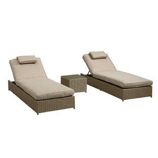Gooding Reclining Sun Lounger Set With Cushions And Table Image