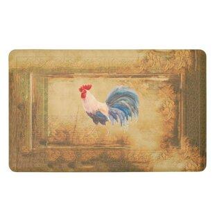 Moldenhauer Vintage Rooster Gelness Kitchen Mat