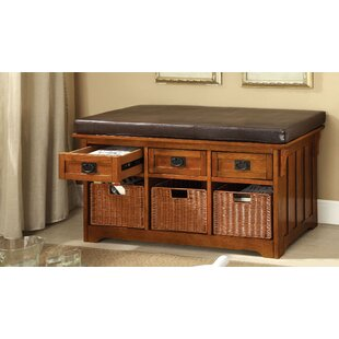 Loon Peak Hernandez Quez Wood Storage Bench