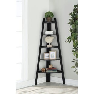 Ebern Designs Galaviz Wood Corner Unit Bookcase