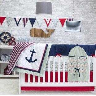 Nautical 6 Piece Crib Bedding Set
