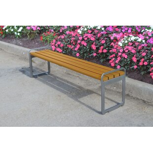 Plaza Backless Steel Picnic Bench