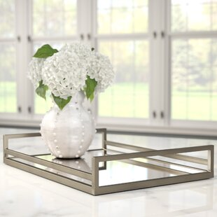 Delicieux Rectangle Glass Accent Tray