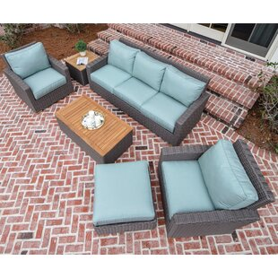 Baysinger 6 Piece Sunbrella Sofa Seating Group with Sunbrella Cushions