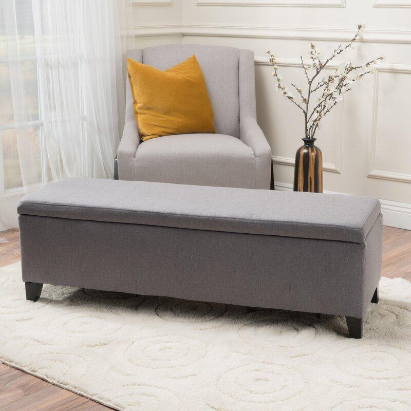 Wrought Studio Schmit Upholstered Storage Bench & Reviews | Wayfair