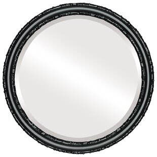 House of Hampton Wines Framed Round Accent Mirror