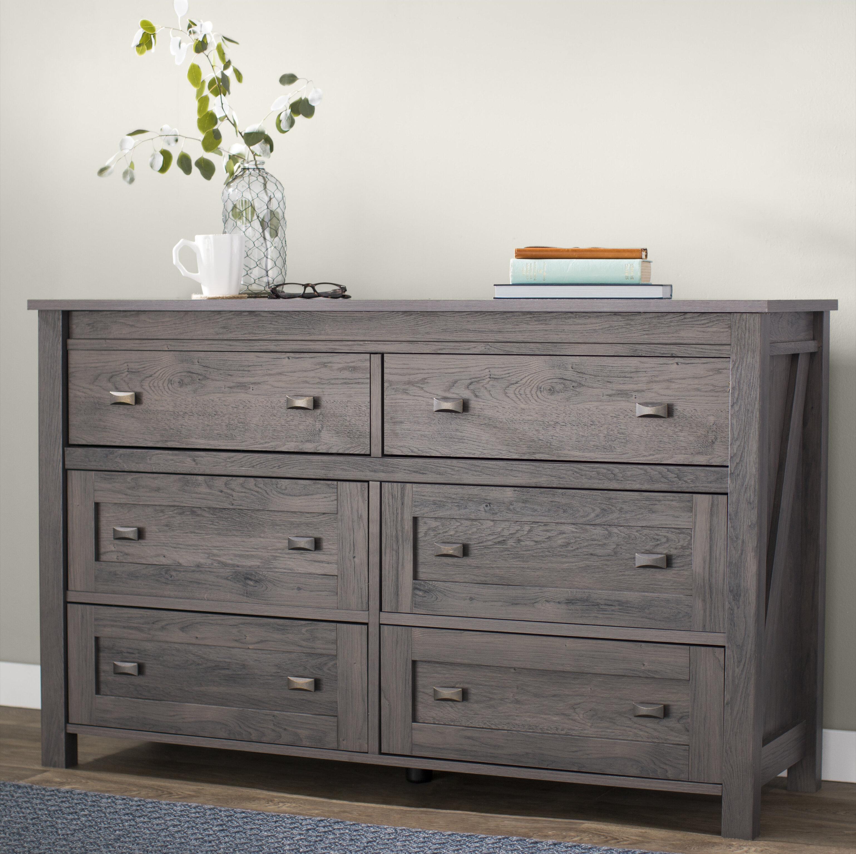 Three Posts Minchinhampton 6 Drawer Double Dresser Reviews Wayfair Ca