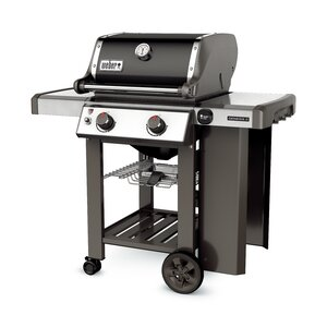 Genesis II E-210 2-Burner Propane Gas Grill with Side Shelves