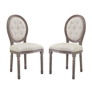 Natalia Upholstered Dining Chair (Set of 2) by Ophelia & Co.