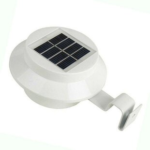 ALEKO Decorative Wall Mounted Solar Powered 3 Light LED Rail Light