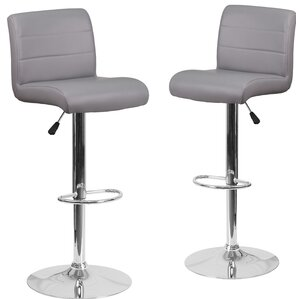 adjustable height swivel bar stool set of 2