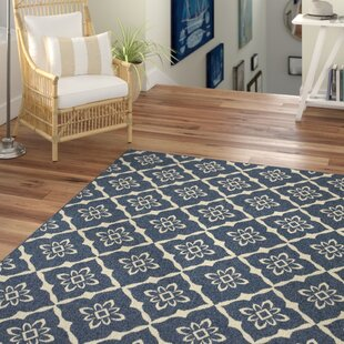 Kailani Blue Geometric Indoor/Outdoor Area Rug