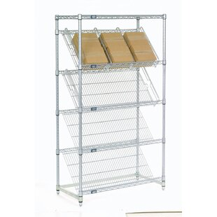 Slant 5 Shelf Shelving Unit