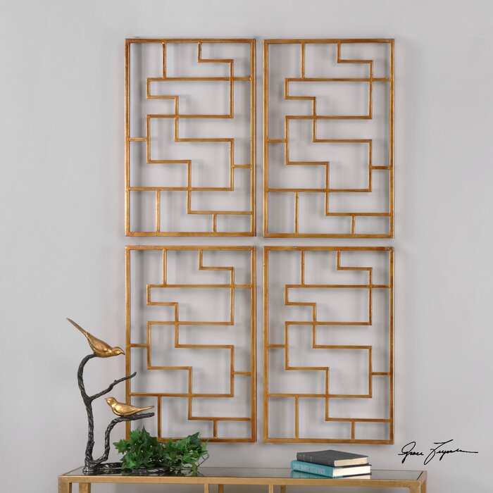 Sunpan Modern Quaid Gold Framed Wall Art & Reviews | Wayfair.ca