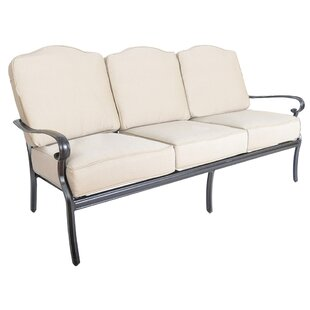 Reagan Patio Sofa with Sunbrella Cushions by Alcott Hill